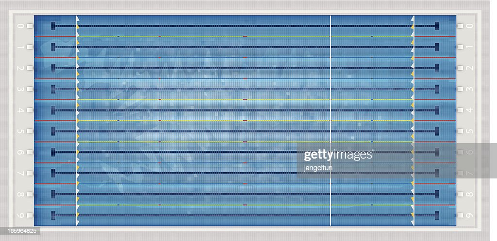olympic swimming pool vector art - Olympic Swimming Pool Background