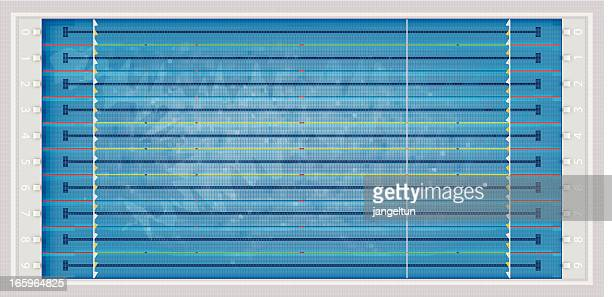 . swimming pool - length stock illustrations
