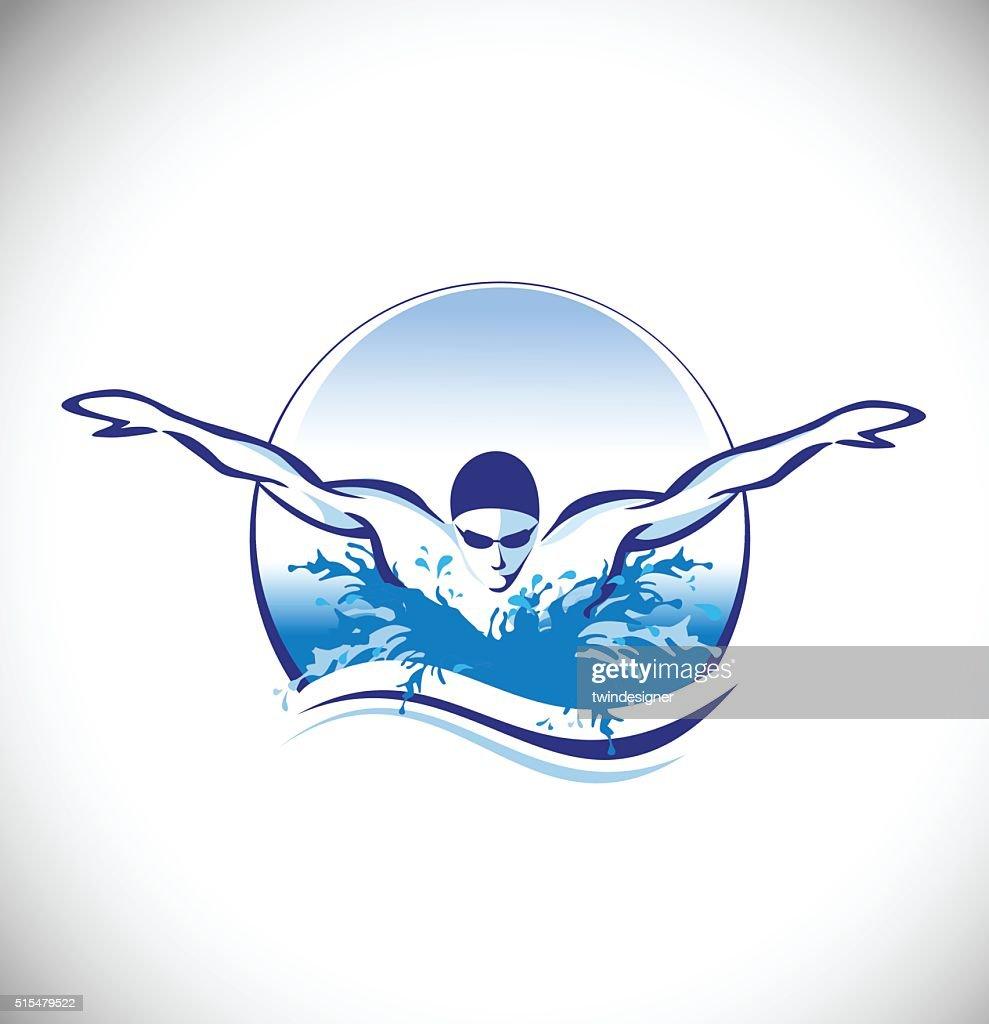 Swimming Swimmer Vector Concept
