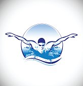 Swimming Swimmer Vector Concept