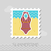 Swimsuit flat stamp