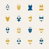 Swimwear Icons - Color Series   EPS10