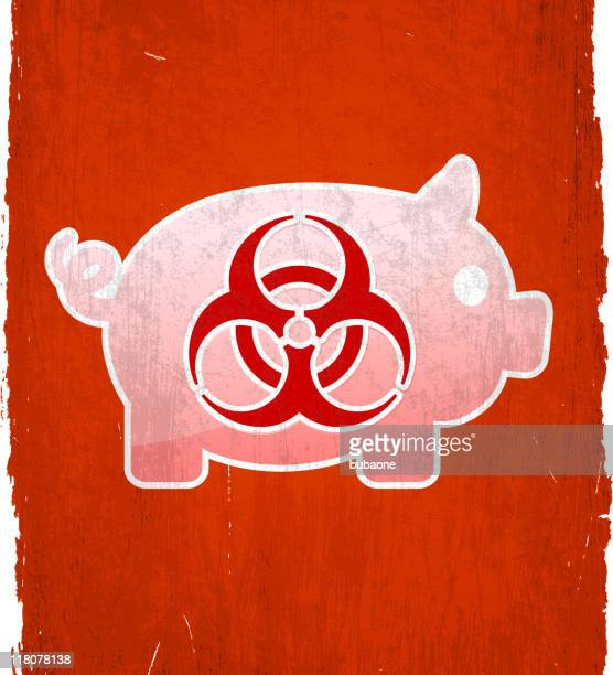 h1n1 swine flu on royalty free vector background - wood stain stock illustrations, clip art, cartoons, & icons