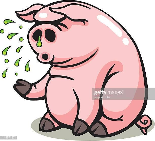 豚インフルエンザのエチケット豚