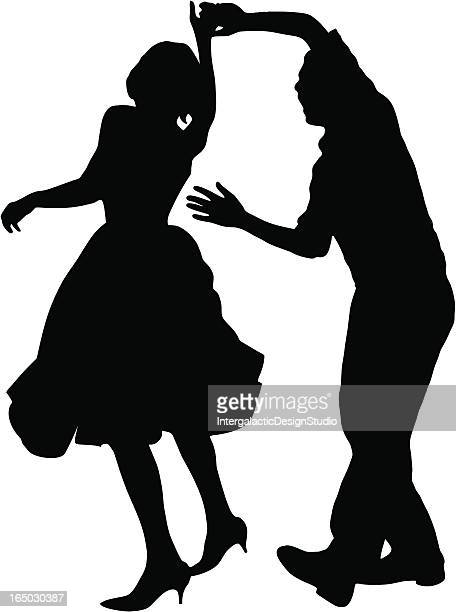 swing time - swing dancing stock illustrations