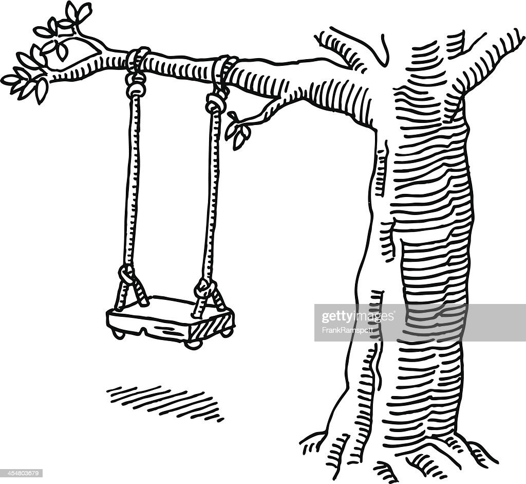 Drawing Lines In Java Swing : Swing tree drawing vector art getty images