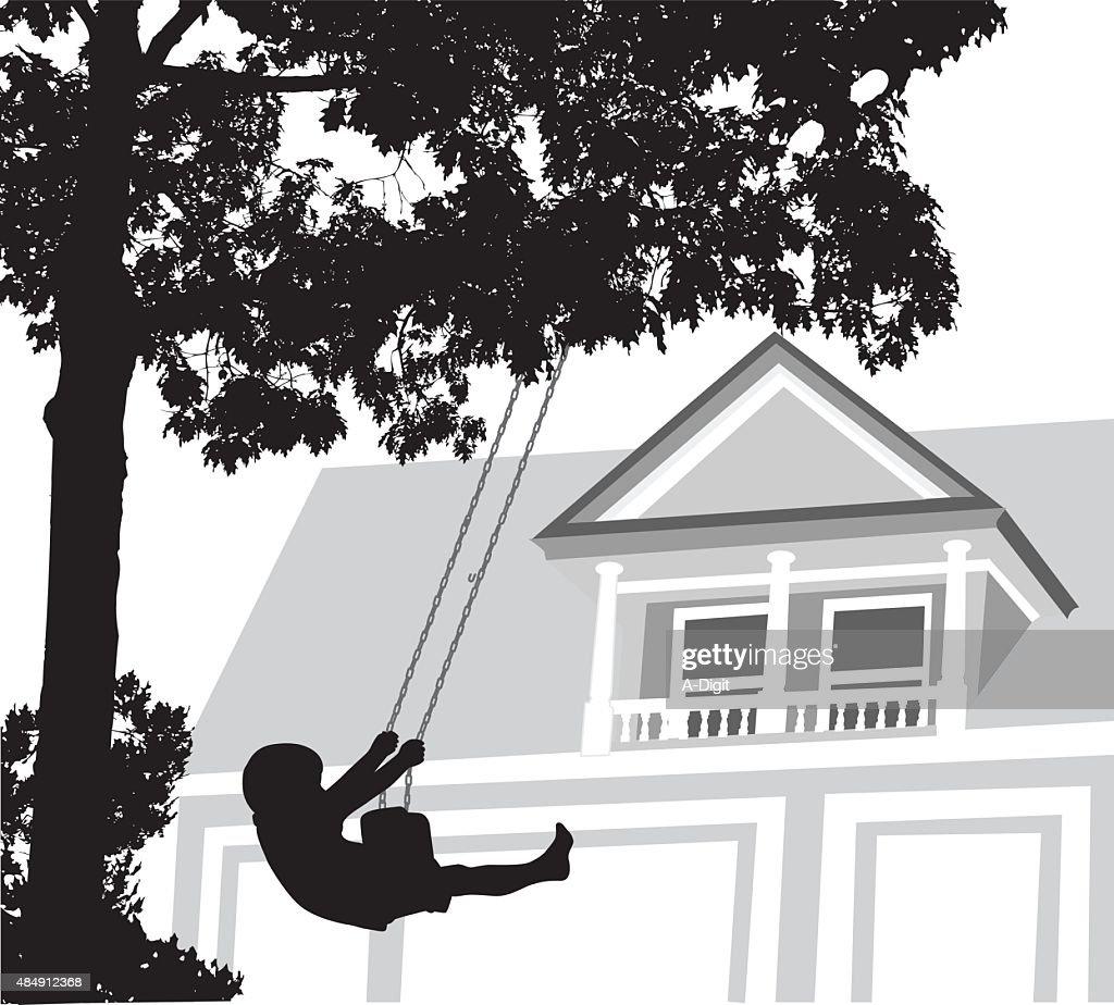 Swinging In My Yard