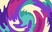 Swirl Abstract Blob Background