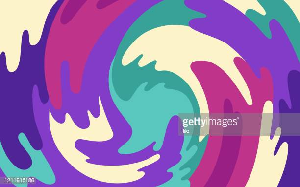 illustrazioni stock, clip art, cartoni animati e icone di tendenza di swirl abstract blob background - ricciolo
