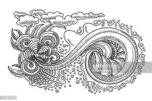 Swirl Doodle Drawing