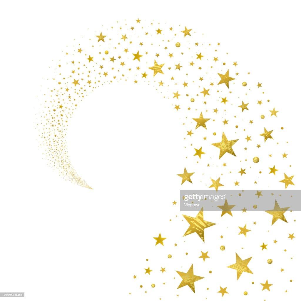 Swirl of Gold Stars