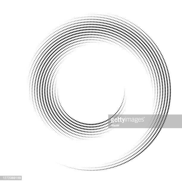 illustrazioni stock, clip art, cartoni animati e icone di tendenza di spirale a spirale a spirale vorticosa, frecce collegate. - spirale
