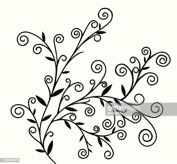 swirl tree - vortex stock illustrations, clip art, cartoons, & icons