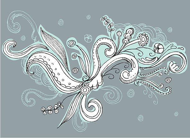 swirly doodle design elements