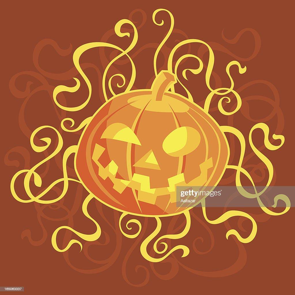 Swirly Pumpkin : stock illustration