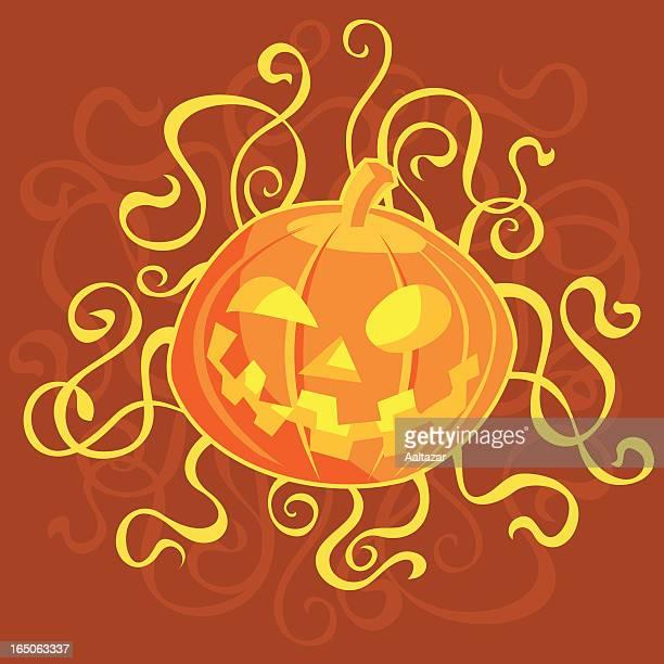 swirly pumpkin - sneering stock illustrations, clip art, cartoons, & icons