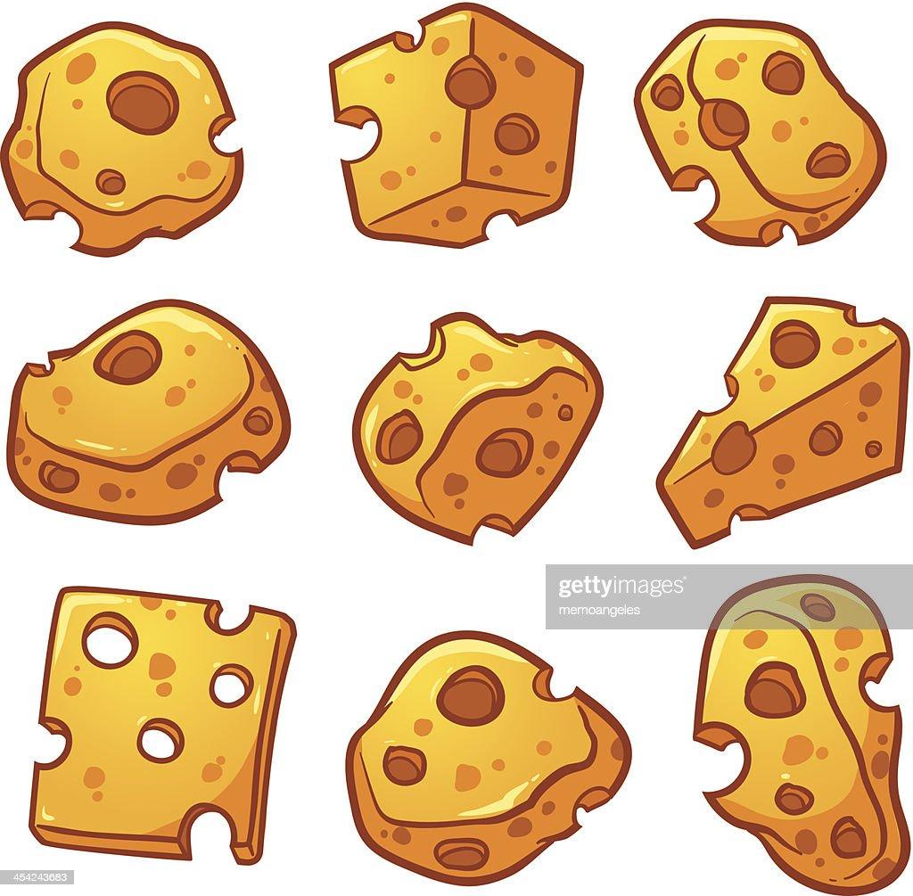 Swiss cheese : Vector Art