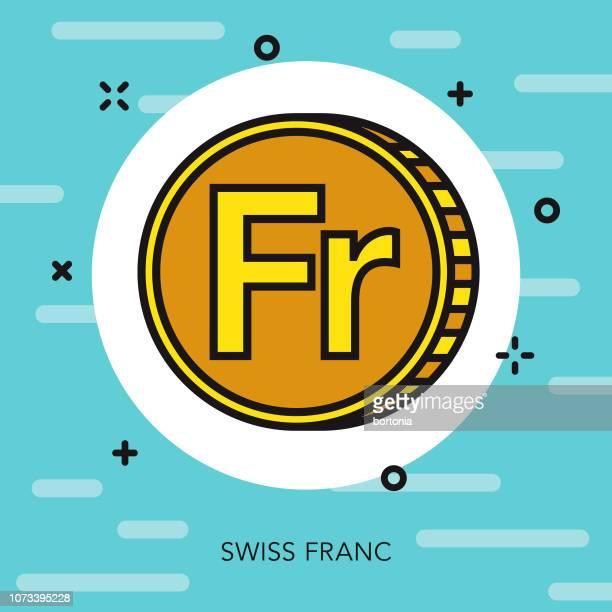 swiss franc thin line switzerland icon - franc sign stock illustrations, clip art, cartoons, & icons