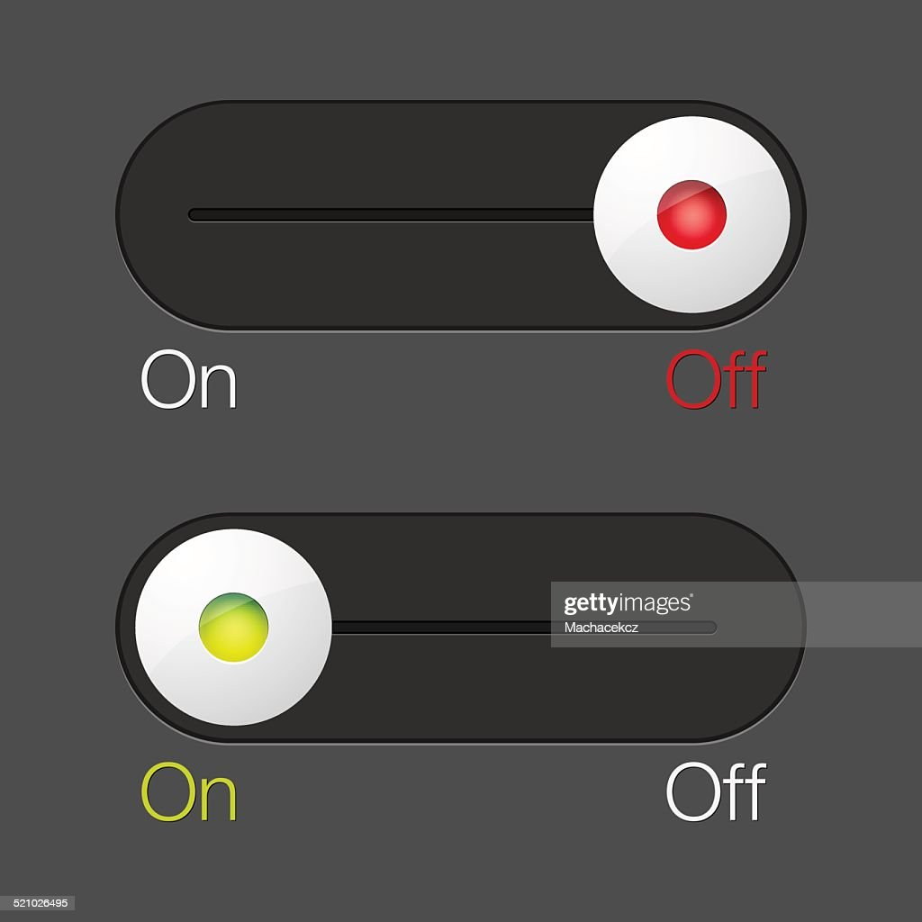 ON-OFF switch buttons