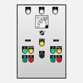 Switch controller for station pumps of electrical system., Vector, Illustration
