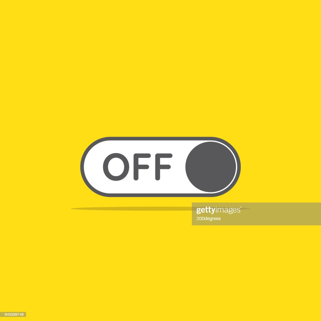 switch off toggle icon in flat style vector illustration