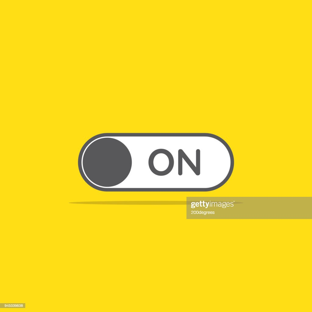 switch on toggle icon in flat style vector illustration