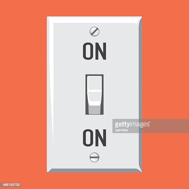 switch on - start button stock illustrations, clip art, cartoons, & icons