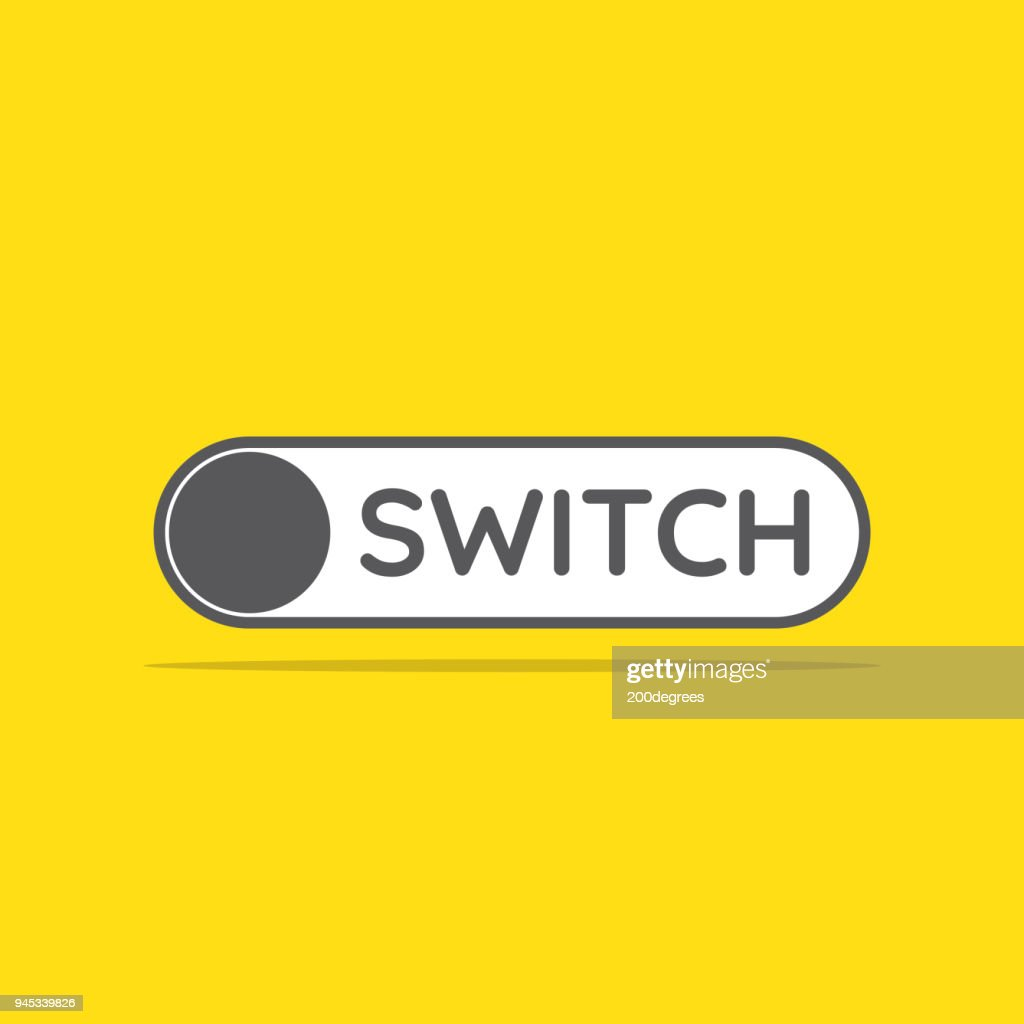 switch toggle icon in flat style vector illustration