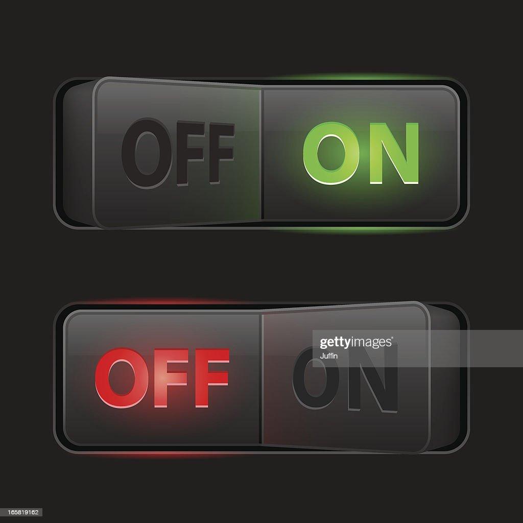 Switches dark (On Off)
