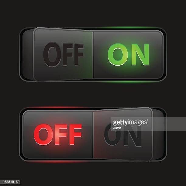 switches dark (on off) - switch stock illustrations, clip art, cartoons, & icons