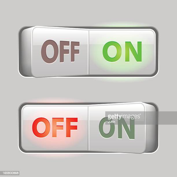 switches light (on off) - switch stock illustrations, clip art, cartoons, & icons