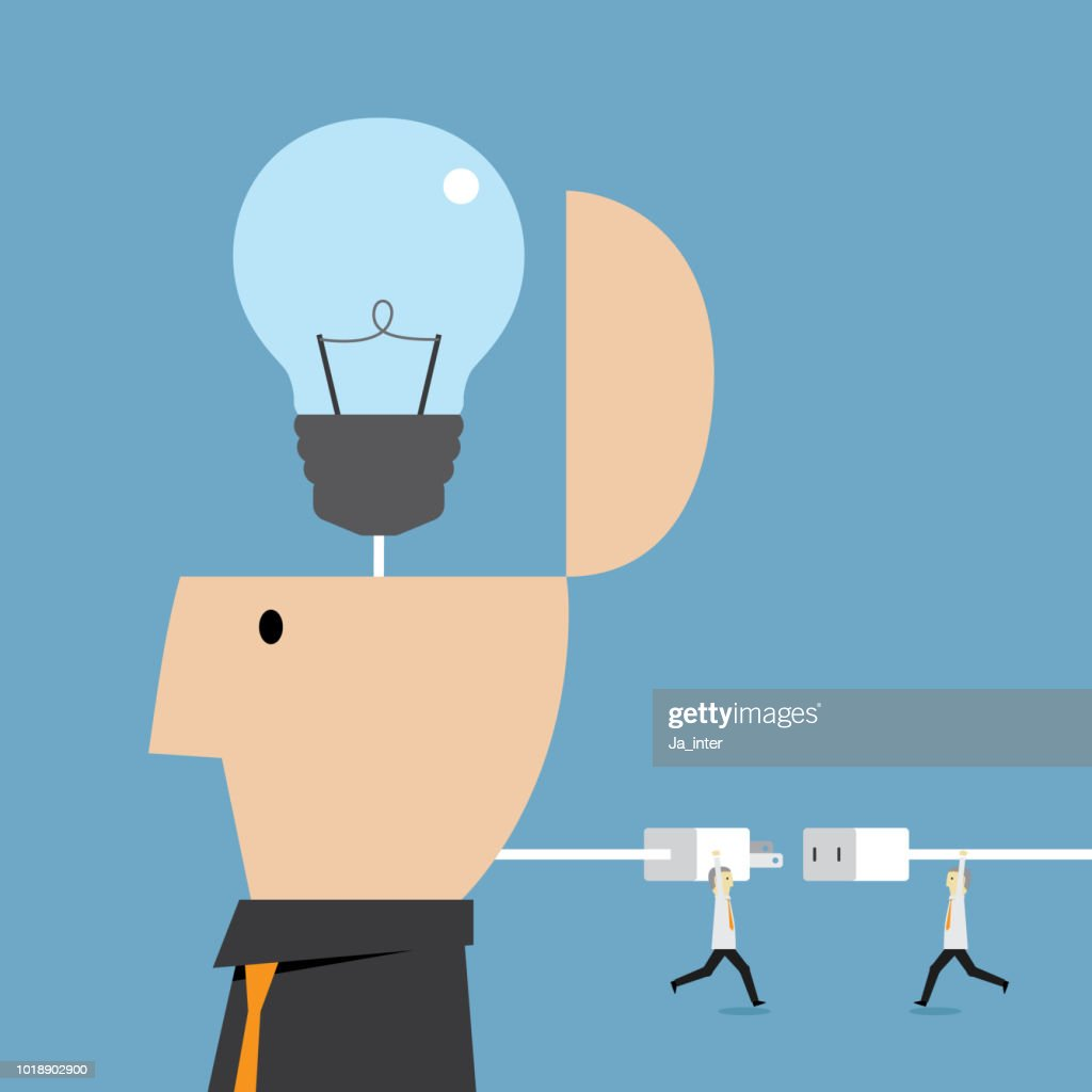 Switching a light bulb : Stock Illustration