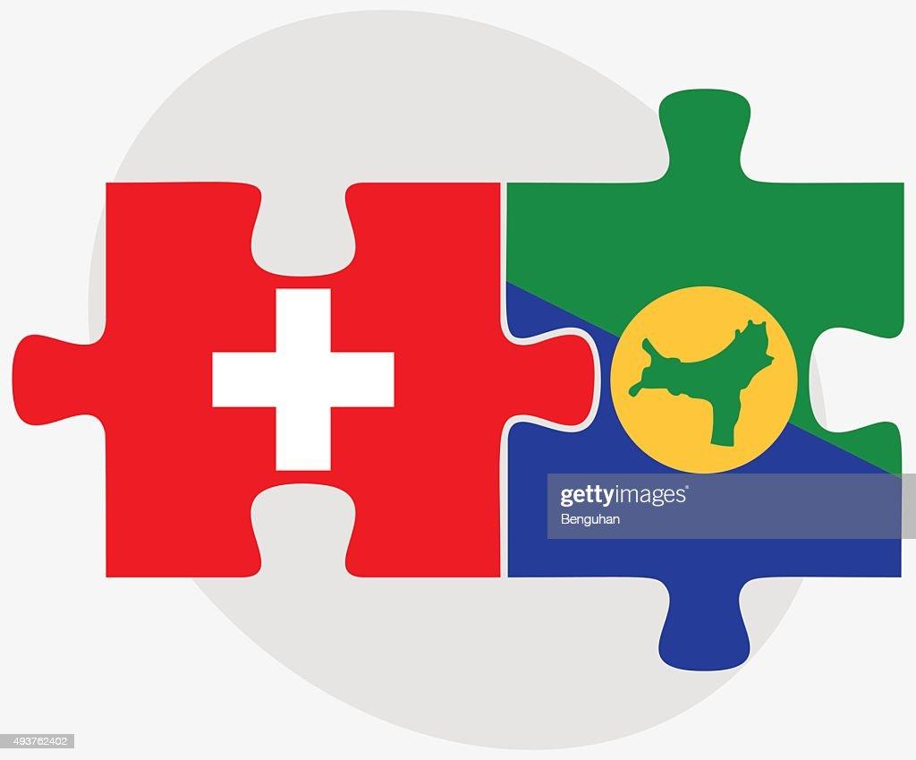 Switzerland and Christmas Island Flags