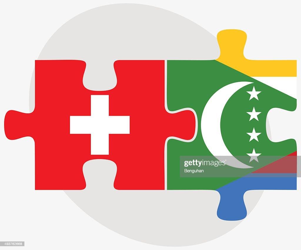 Switzerland and Comoros Flags