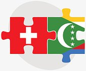 Switzerland and Comoros Flags