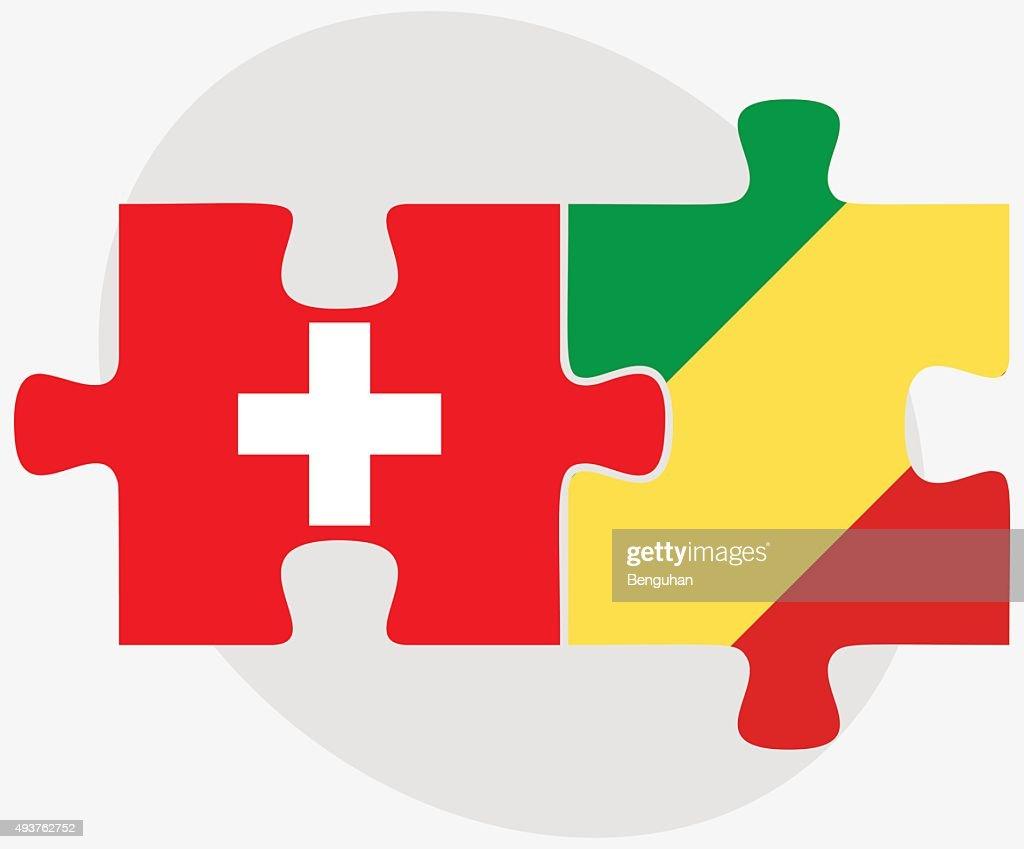 Switzerland and Congo Flags