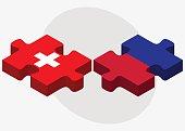 Switzerland and Haiti Flags