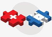 Switzerland and Honduras Flags