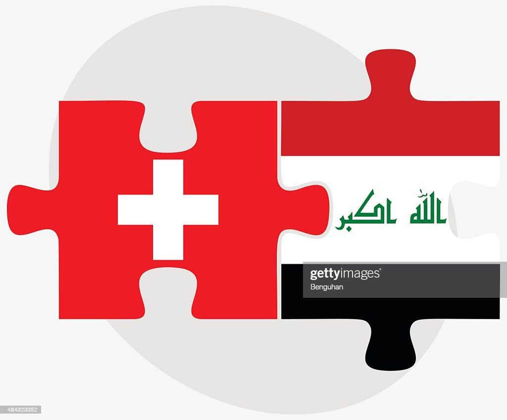 Switzerland and Iraq Flags