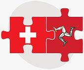 Switzerland and Isle of Man Flags