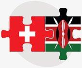 Switzerland and Kenya Flags