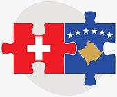 Switzerland and Kosovo Flags
