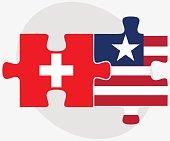 Switzerland and Liberia Flags