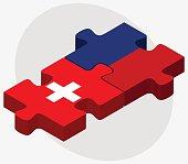 Switzerland and Liechtenstein Flags