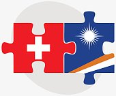 Switzerland and Marshall Islands FlagsSwitzerland and Marshall I