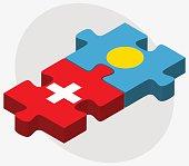 Switzerland and Palau Flags