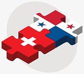 Switzerland and Panama Flags