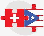 Switzerland and Puerto Rico Flags