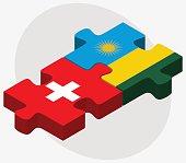 Switzerland and Rwanda Flags