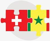Switzerland and Senegal Flags
